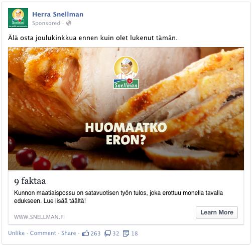 Snellman - Digitaalinen markkinointikampanja