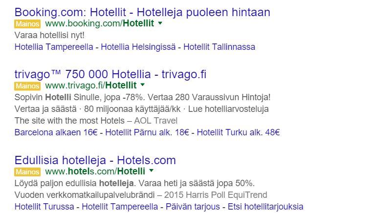 google adwords matkailuala