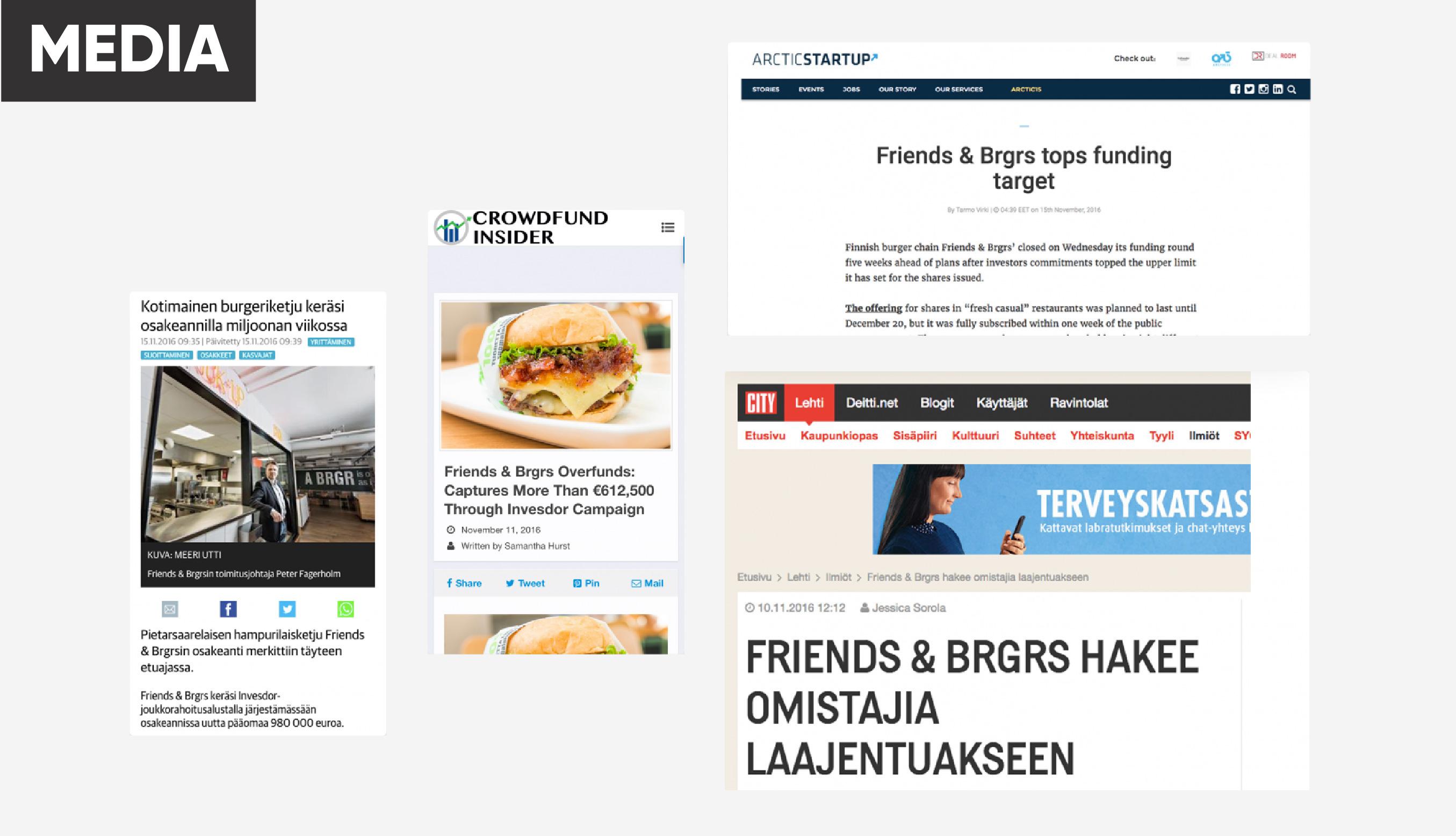 Friends & Brgrsin joukkorahoituskampanja keräsi miljoona euroa ennätysajassa 23