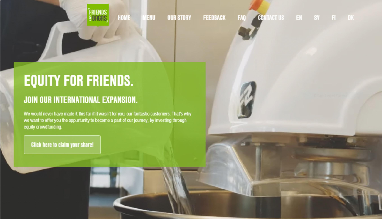 Friends & Brgrsin joukkorahoituskampanja keräsi miljoona euroa ennätysajassa 13