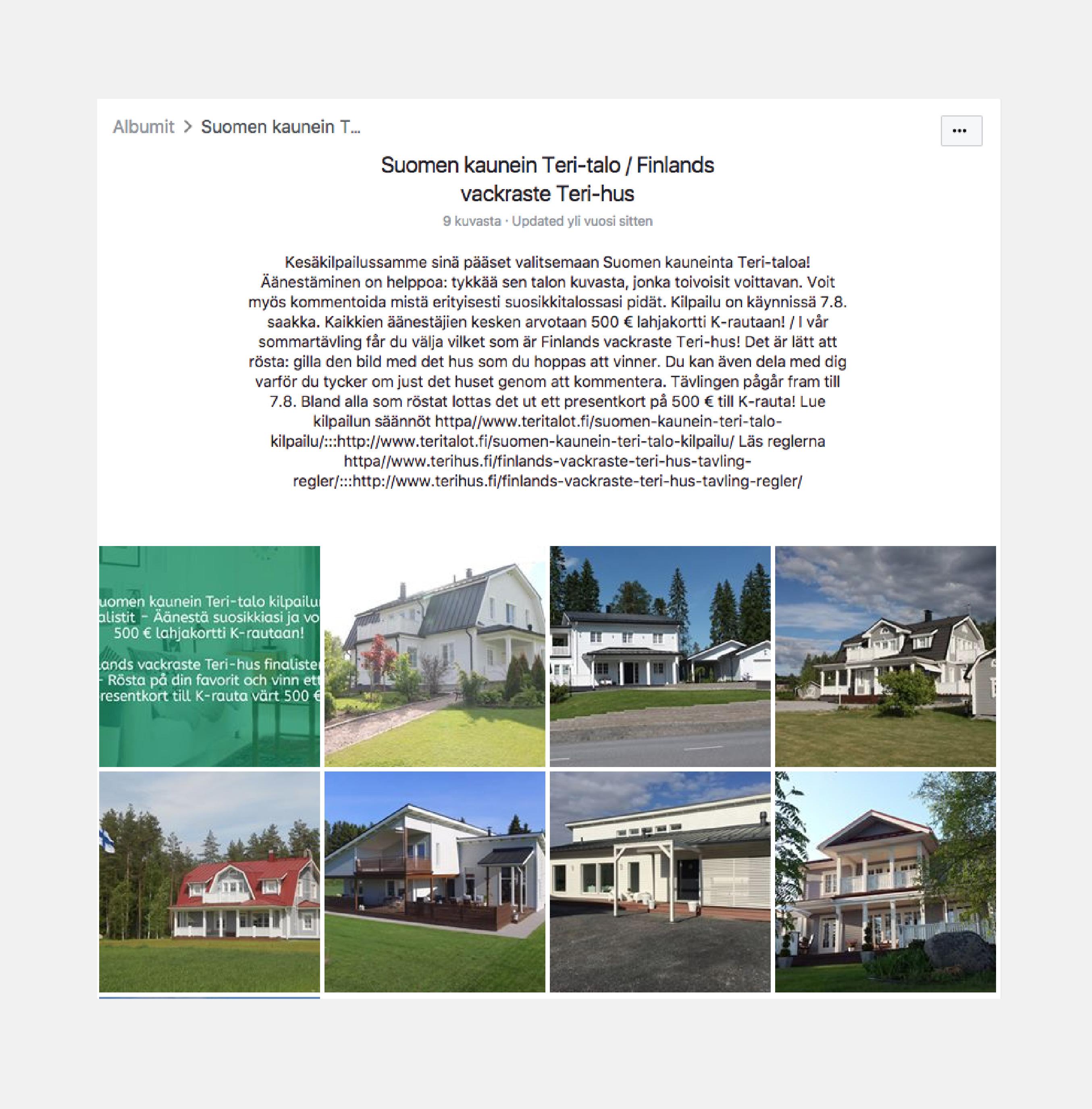 Teri-Talot – Kampanja, joka lisäsi tunnettuutta 3