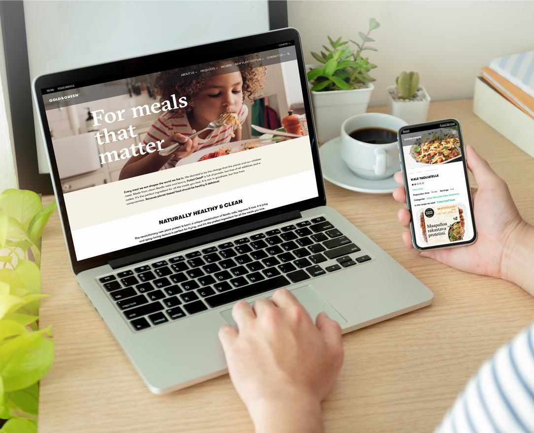 Gold&Green – verkkosivu-uudistus paransi orgaanista näkyvyyttä 1